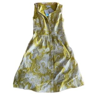 NWT!  Boden paisley print dress in chartreuse SZ 6